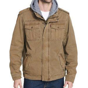 Levi's Men's Sherpa Lined Hooded Trucker Jacket S